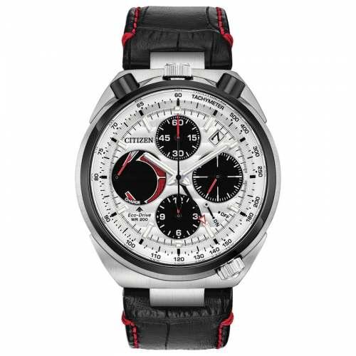 Relógio Tsuno Racer Eco-Drive AV0071-03A Pulseira de Couro
