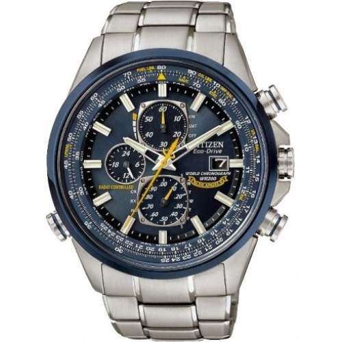 Relógio Citizen AT8020-54L Blue Angels Eco-Drive Cronógrafo em Aço