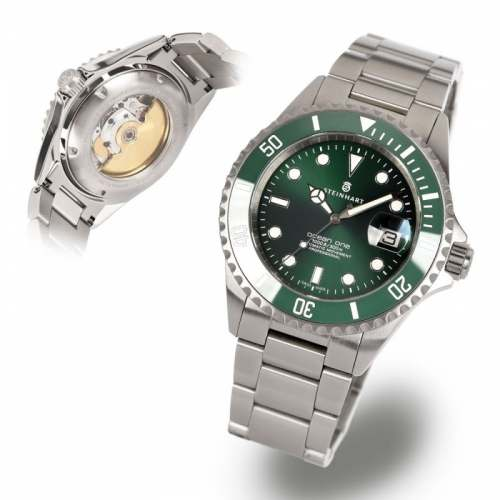 Relógio STEINHART HULK - OCEAN One Double-GREEN Ceramic Premium 103-1063