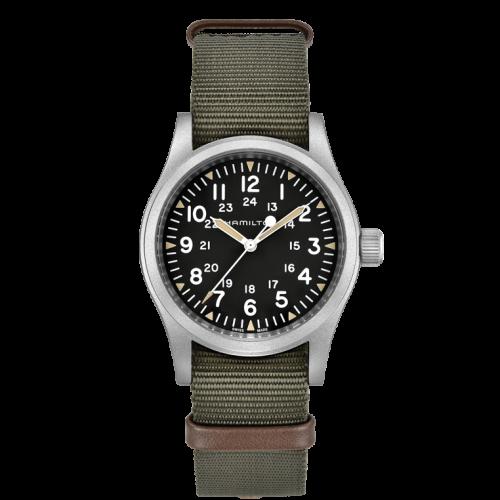 Relógio Hamilton H69439931 Khaki Field Mechanical Suíço Masculino Militar