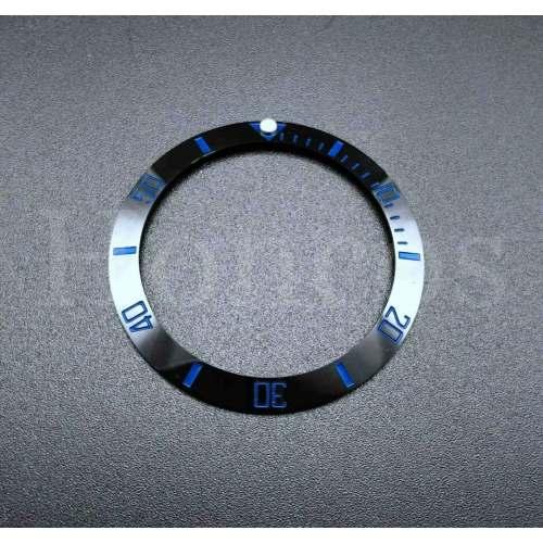 Insert Bezel Cerâmica Preto Índices Azuis - Simple Diver HONCOS - Seiko SKX007 009 e Seiko 5 Sports