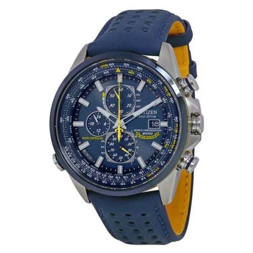 Relógio Citizen Blue Angels AT8020-03L Eco-Drive Cronógrafo Masculino Safira