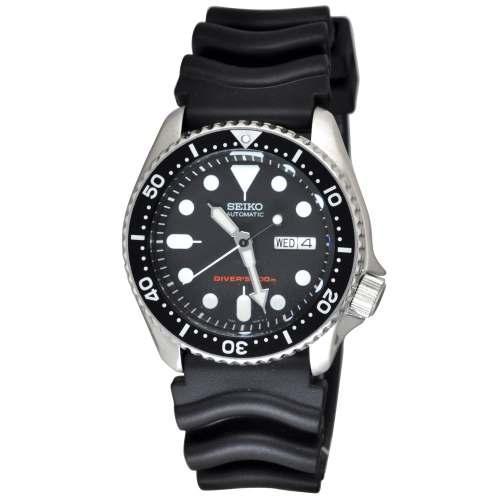 Relógio Seiko SKX007K1 Diver Automático Pulseira de Borracha Diver 200m