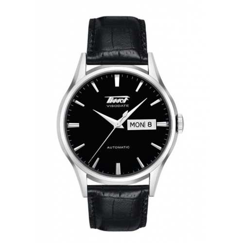 Relógio Tissot Visodate T019.430.16.051.01 Automático Suíço Pulseira de Couro + Safira Social