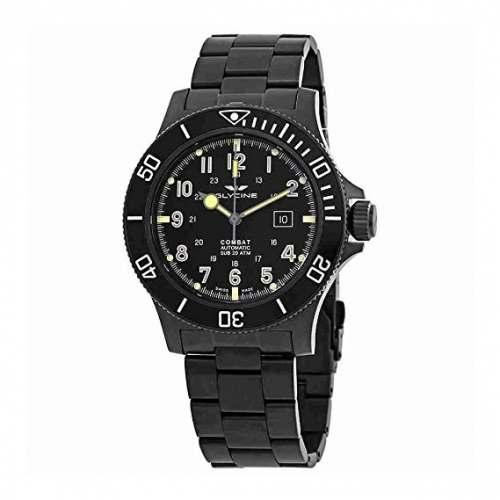Relógio Glycine Combat SUB Automatico GL0096 Black PVD