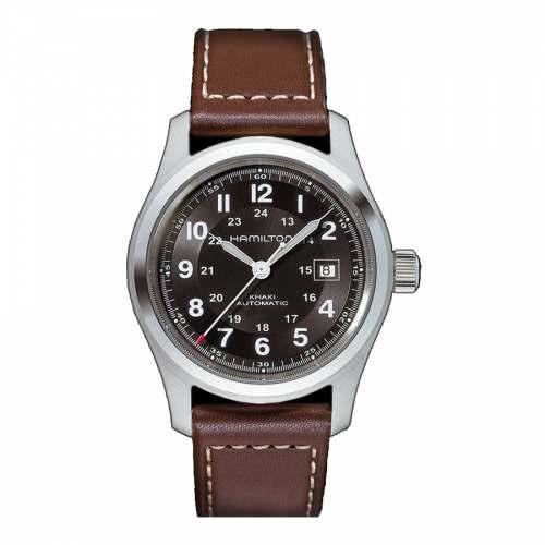 Relógio Hamilton Khaki Field H70555533 Preto Automático Suíço Militar Safira