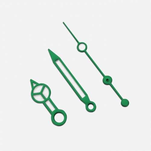 Kit de Ponteiros Estilo Mercedes Verde para MOD - Linha Seiko SKX007/009