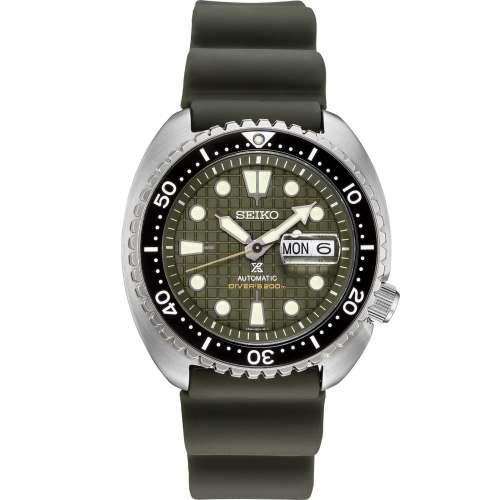 Novo Seiko King Turtle SRPE05K1 Army Green Automático Prospex 200M