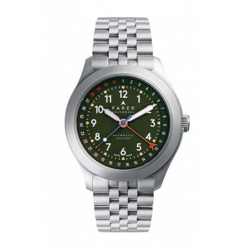 Relógio Farer Exmoor Field Automático 200m Verde Oliva Dial 38,5mm