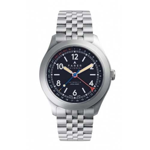 Relógio Farer Lomond Field Automático 200m Navy Blue Dial 38,5mm