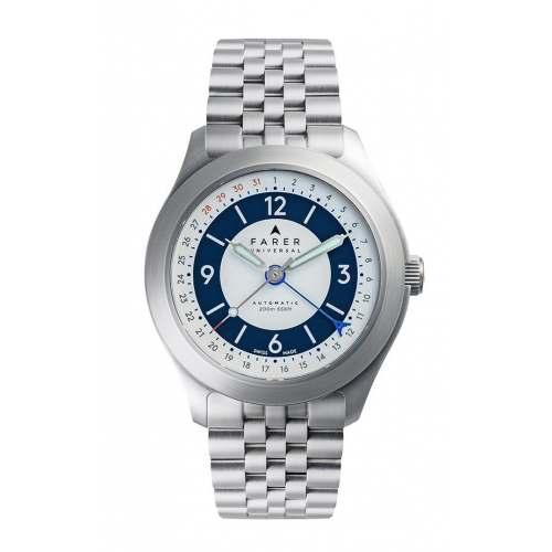Relógio Farer Pembroke Field Automático 200m White Sector Dial 38,5mm