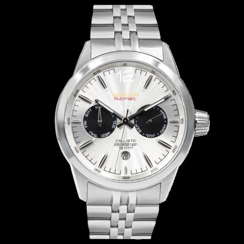 Relógio Meia Lua Callisto Semi Ice Automático - Microbrand Portuguesa CAL-SLV-SICE
