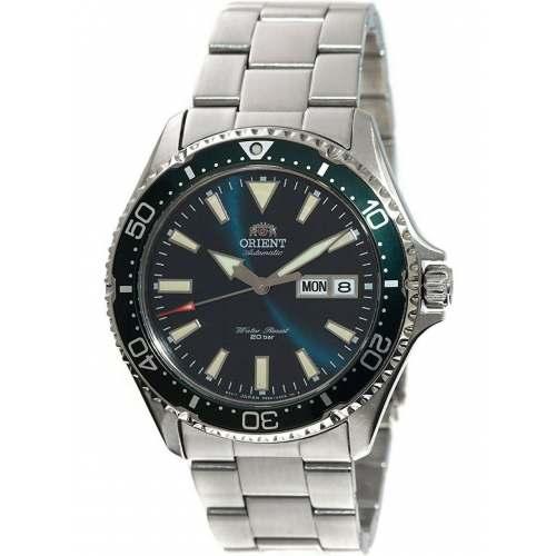 Relógio Orient Mako III KAMASU RA-AA0004E19B Verde Automático Diver