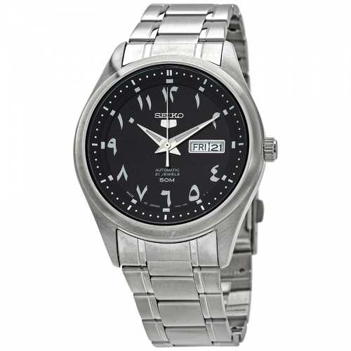 Relógio Seiko 5 SNKP21J1 Round Arabic Dial Automático JDM 42mm