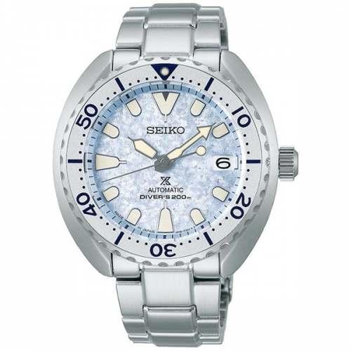 Relógio Seiko SBDY109 Mini Turtle Ice Frost Edition JDM Automático 40,5mm