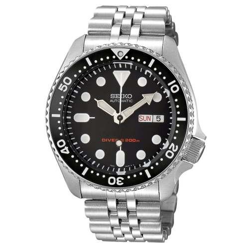 Relógio Seiko SKX007K2 Automático Pulseira de Aço Diver 200m
