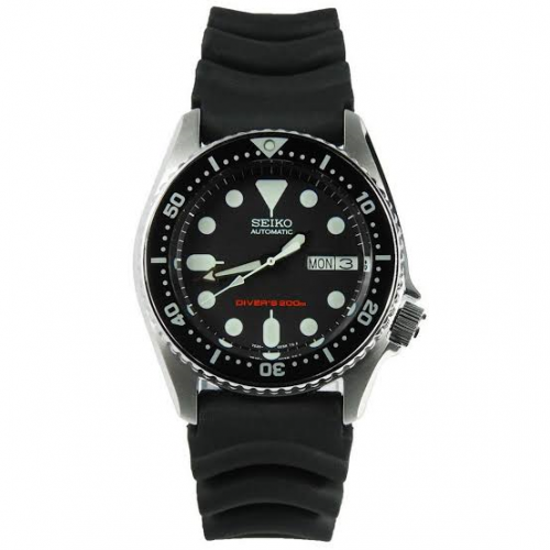 Relógio Seiko SKX013K1 Automático Diver Masculino Preto Pulseira Borracha