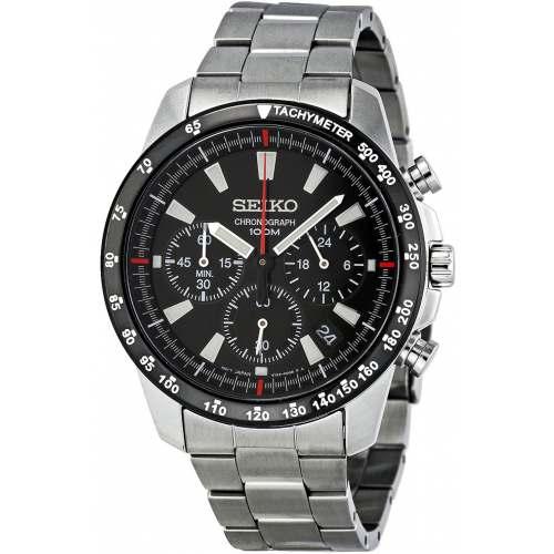 Relógio Seiko SSB031P1 Masculino Chronograph Preto Aço