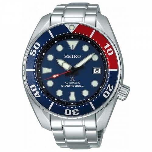 Relógio Seiko SUMO Pepsi SBDC057 Automático Diver 200M Aço