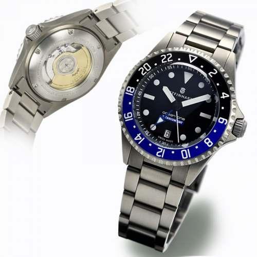 Relógio STEINHART Ocean 42 GMT Premium 500 Titanium - Automático Diver 103-0662