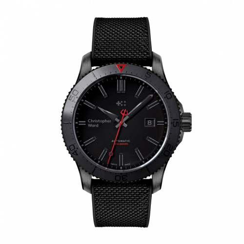 Relógio Christopher Ward Trident C60 Abyss Black Automático Diver 600M