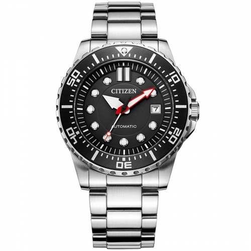 Relógio Citizen Automático NJ0120-81E Preto Promaster 100M Caixa 43mm