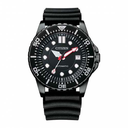 Relógio Citizen Automático NJ0125-11E All Black Promaster Pulseira Borracha