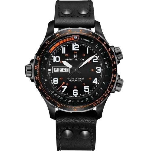 Relógio Hamilton H77785733 Khaki Aviation X-Wind Automático Caixa Preta