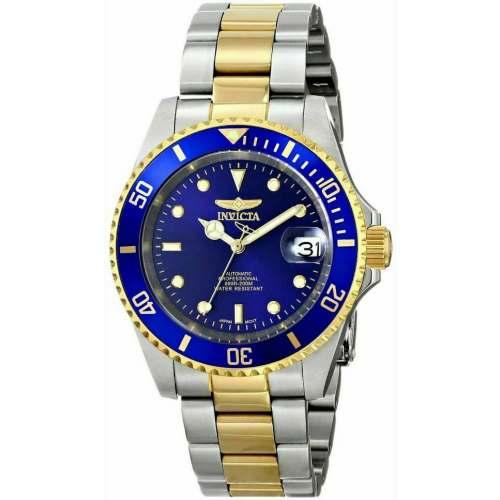 Relógio Invicta Automático Pro Diver 8928OB Gold Misto Azul