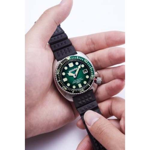 Relógio MERKUR OCEANMASTER Verde - Diver 300M + Safira + Bezel Cerâmica
