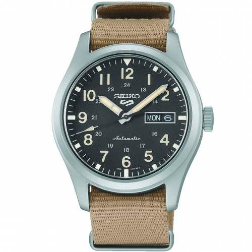 Relógio Novo Seiko 5 Sports Militar SRPG35K1 Lançamento 2021 Automático Calibre 4r36