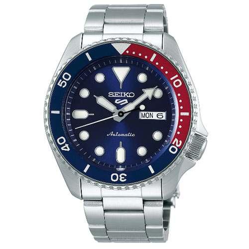 Relógio SEIKO 5 Sports SRPD53 Automático Bezel Pepsi Calibre 4r36