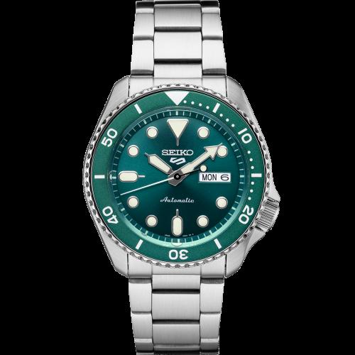 Relógio Seiko 5 Sports SRPD61 Green Hulk Automático Calibre 4R36 100M