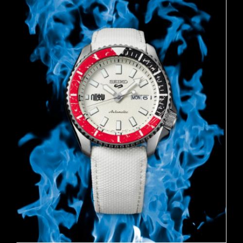 Relógio Seiko 5 RYU STREET FIGHTER V LE - SRPF19 Edição Limitada Branco