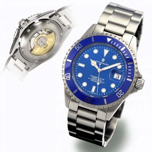 Relógio Steinhart OCEAN One premium BLUE Ceramic - SMURF 106-0458 42mm