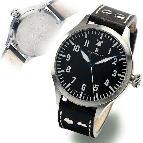 Relógio Steinhart PILOT 107-0336 Nav B-Uhr 44 A-Muster Automático Couro