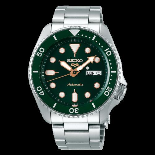 Novo Seiko 5 Sports Automático SRPD63K1 Verde Hulk - Bracelete de Aço
