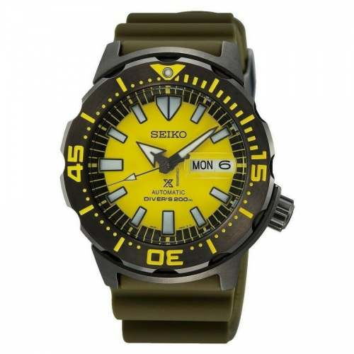Relógio Seiko SRPF35K1 Yellow Monster Special Edition Diver 200M Amarelo