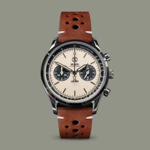Relógio NEZUMI LOEWS REF. LQ2.101 Panda Dial Cronógrafo Meca-Quartz